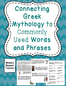 Connecting Greek Mythology to Commonly Used Words and Phrases
