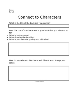 Connecting to Novel Characters