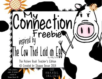 Connection Freebie inspired by The Cow That Laid an Egg