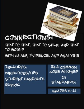 Connections: Text to Text, Self & World with Claim, Eviden