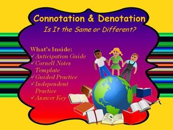 Connotation & Denotation Mini Lesson