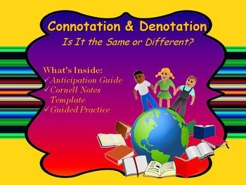 Connotation & Denotation Power Point Presentation