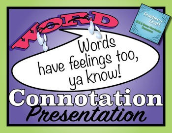 Connotation PowerPoint Presentation