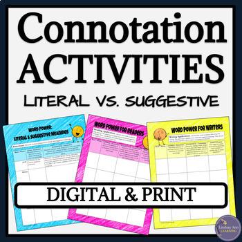 Connotation vs. Denotation Worksheets