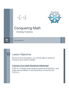 Conquering Math: Dividing Fractions