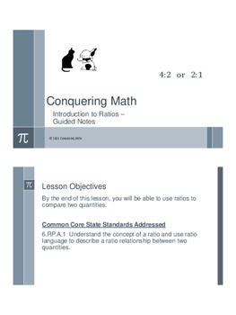 Introduction to Ratios - Flipped Classroom