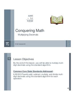 Conquering Math: Multiplying Decimals
