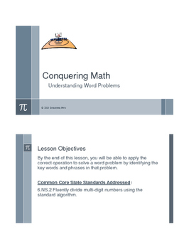 Conquering Math: Understanding Word Problems