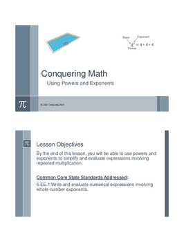 Conquering Math: Using Powers and Exponents
