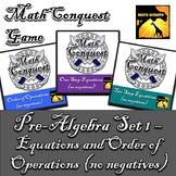 Conquest Game: Pre-Algebra Set 1 (Bundled) - Equations & O