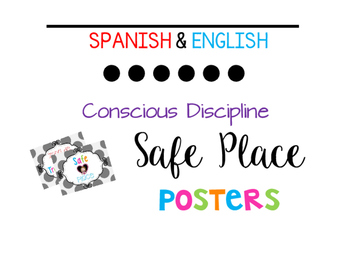 Conscious Discipline Safe Place Posters {Spanish & English}