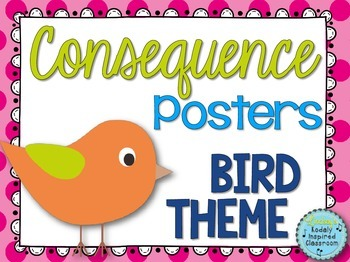 Consequence Posters {Bird Themed}