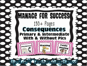 Consequences and Editable Posters for Classroom Management