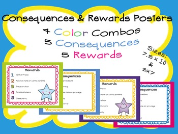 Consequences and Rewards Posters