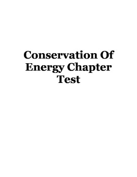 Conservation Of Energy Chapter Test