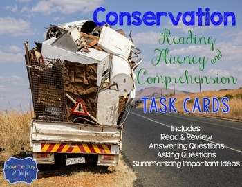 Conservation Task Cards for Fluency and Comprehension