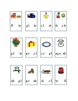 Consonant Blend Circle Beginning Blend Picture SH PL TR CL