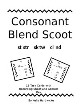 Consonant Blend Scoot/Task Cards