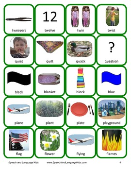 Consonant Blends Articulation Cards and Worksheets