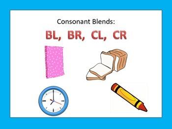 Literacy Centers: Consonant Blends: BL  BR  CL  CR