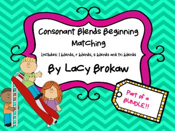 Consonant Blends Beginning Matching r blend, s blend, l bl