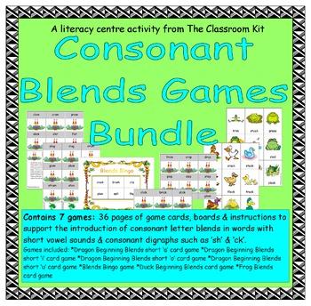 Consonant Blends Games Bundle