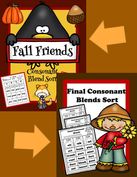 Consonant Blends Sorting Activity, Beginning and Final Blends!!