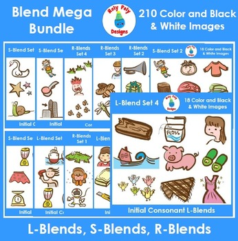 Consonant Blends Mega Bundle (L, R, and S-Blends)