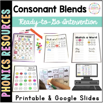 Consonant Blends Printable Intervention