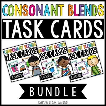 Consonant Blends Task Cards Bundle