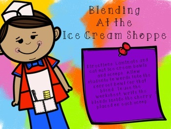 Consonant Blends at the Ice Cream Shoppe