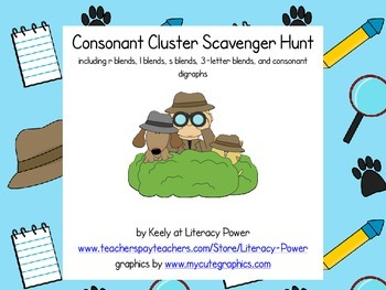 Consonant Cluster Scavenger Hunt