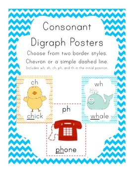 Consonant Digraph Posters