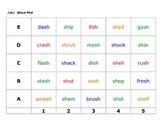Consonant Digraph Word Plots --ch, sh, th