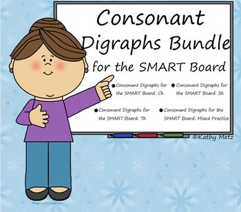 Consonant Digraphs Bundle for the SMART Board
