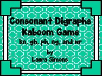 Consonant Digraphs Kaboom Game 1