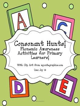 Consonant Picture Hunts!  Phonemic Awareness Activities fo