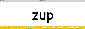 Consonant-Vowel-Consonant or CVC automatic generator