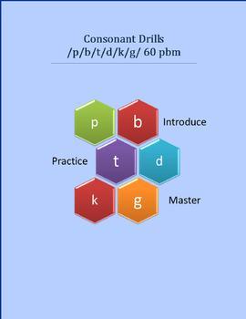 Consonant drill p,b,t,d,k,g