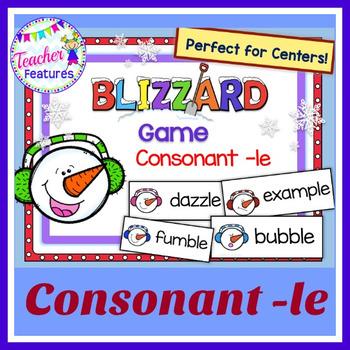 Consonant –le: Snowman & Blizzard Theme