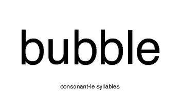 Consonant-le Words and Sentences