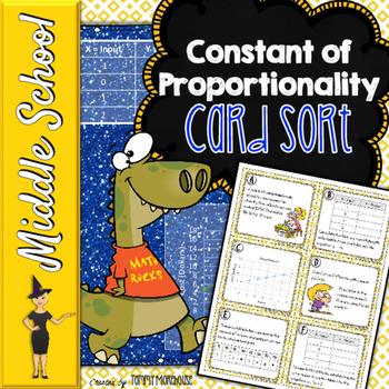Constant of Proportionality - Card Sort