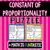 Constant of Proportionality Puzzle (Words, Tables, Graphs,