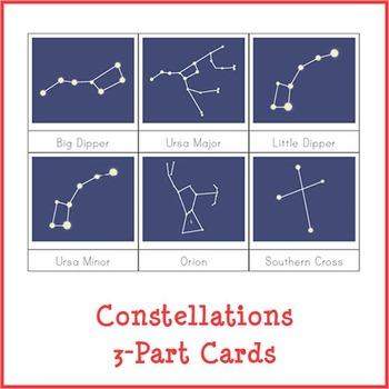 Montessori Constellations 3-Part Cards {Dark Background}