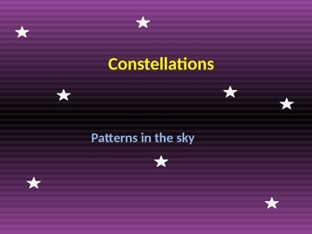Constellations! A Brief Review and Fun Activity! (Editable