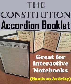 The Constitution Foldable (American Government Unit)