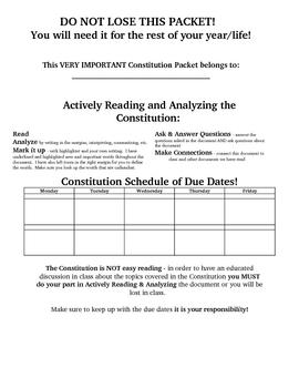 Constitution Activities