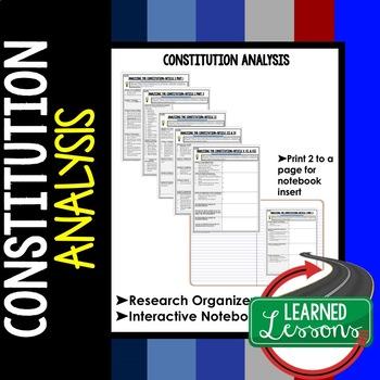 Constitution Analysis Graphic Organizer