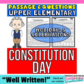 Constitution Day: Passage with Questions: Reading Comprehe