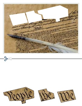 """""""Constitution Day"""" America cutting Day activities, """"We the"""